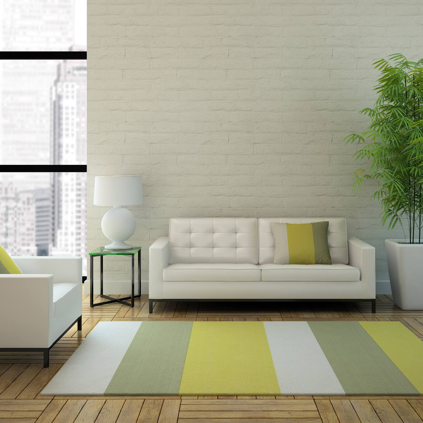 Stripped area rug | Great Lakes Carpet & Tile