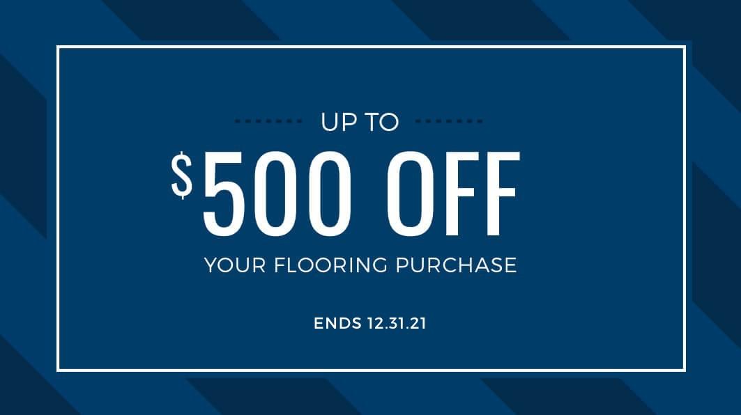 save $500 off flooring